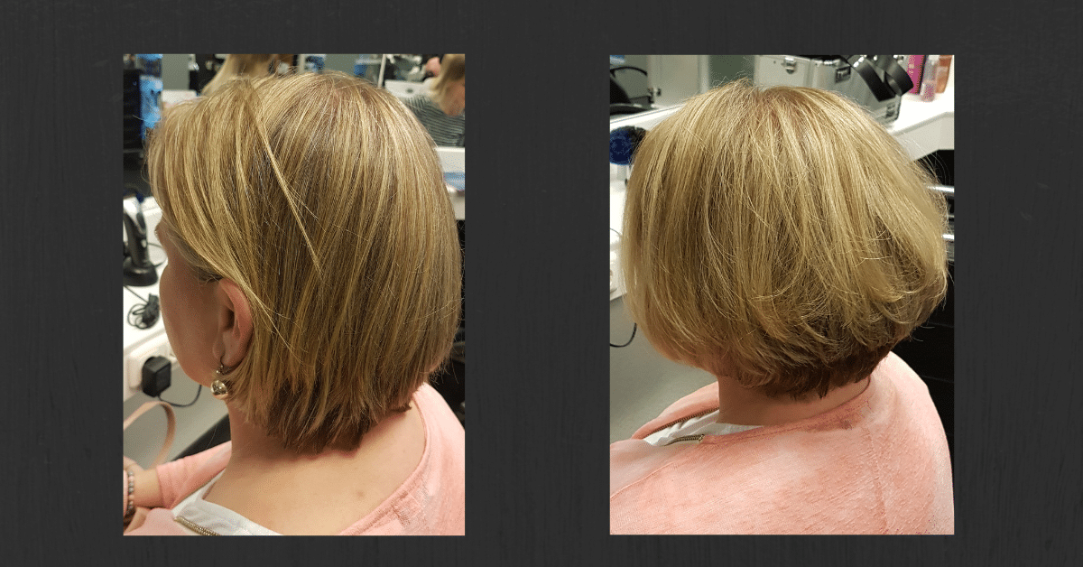 Lauts-Friseur-Stade-Haarverdickung blond