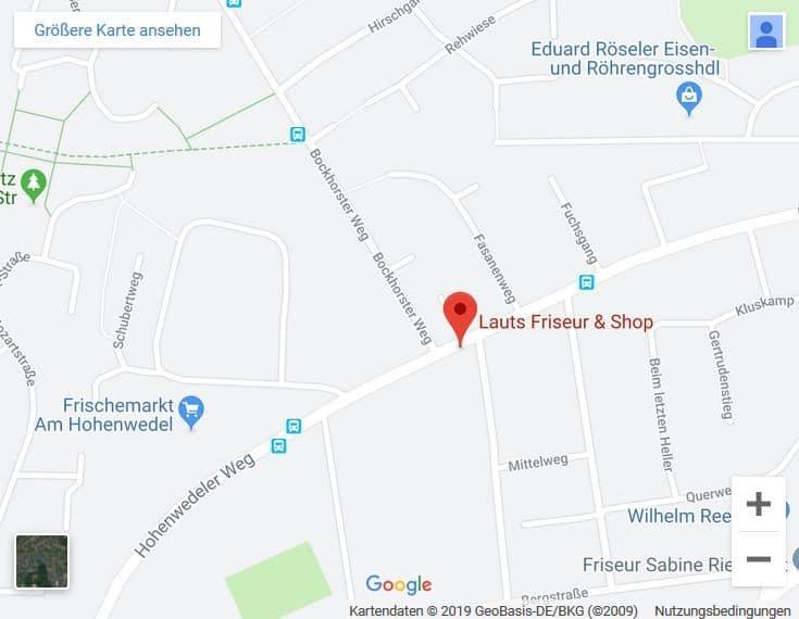 Google Maps Karte unseres Friseursalons | Lauts Friseur und Shop Stade