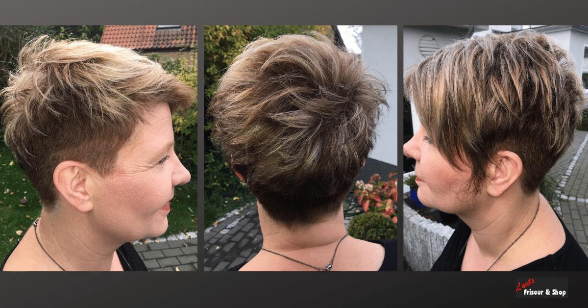 Friseur Kurzhaarschnitt mit Strähnen | Lauts Friseur und Shop Stade