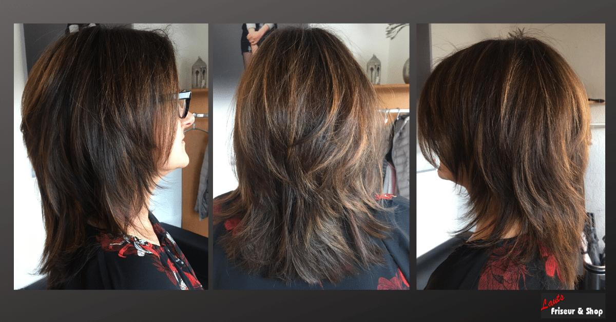Frisur stufig dunkel | Lauts Friseur und Shop Stade