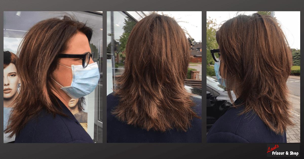 stufige Damenfrisur in der Farbe braun von Lauts Friseur und Shop in Stade