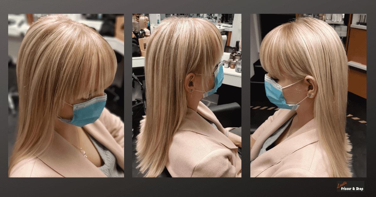 Damenfriseur mit blonden langen Strähnen von Lauts Friseur und Shop in Stade