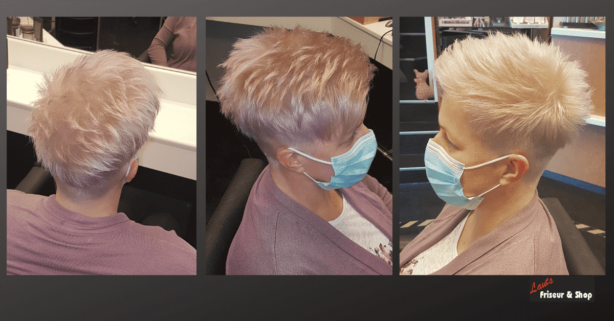 Lauts-Friseur-Stade-kurze-rosa-Haare