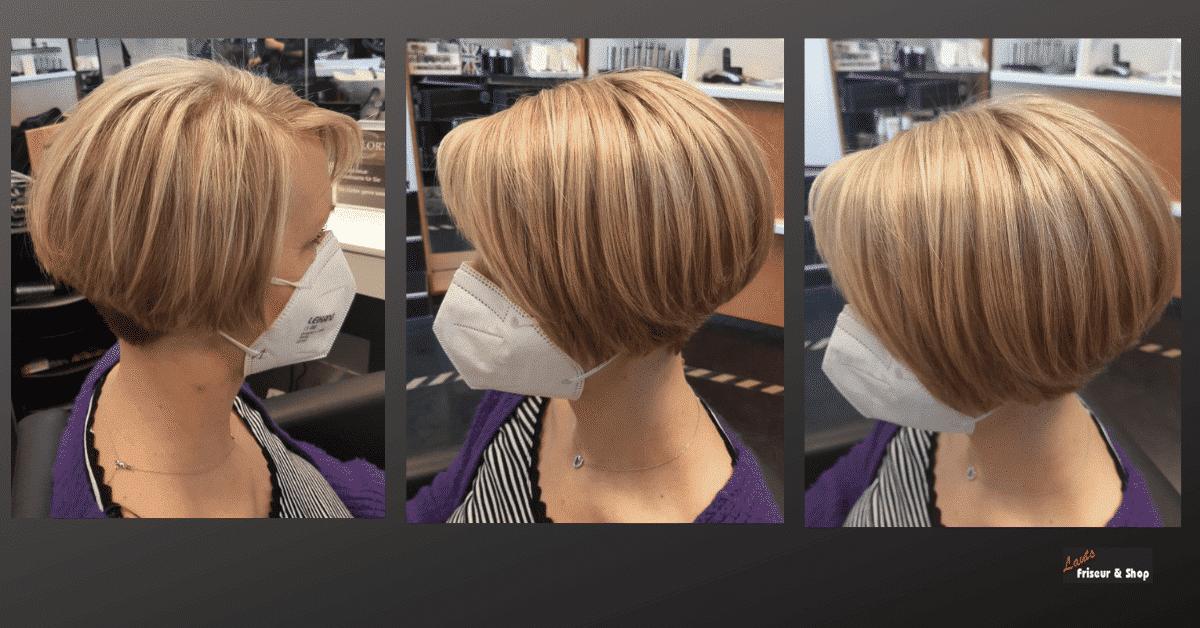 Blonder Damenbob von Lauts Friseur und Shop in Stade